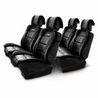 Меховые накидки Luxury 001 черные