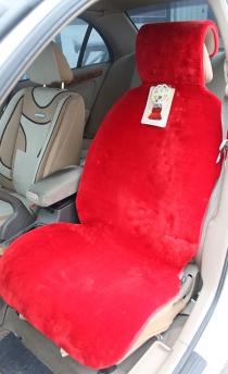 Меховые накидки мутон искусственный красный.