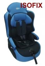Автокресло Kids Prime LB040 черное с синим