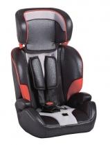 Автокресло Geoby CS906 черное с серым и красным