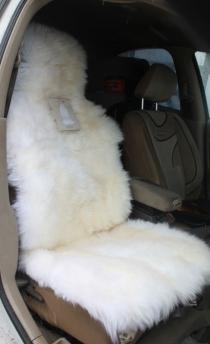 Накидка из овчины Заря длинношерстная белая
