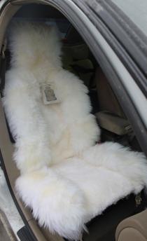 Накидка из овчины Заря комбинированная белая