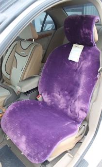 Меховые накидки мутон искусственный фиолетовый.