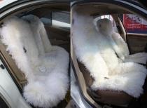 Премиум комплект меховых накидок белый.